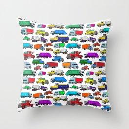 Truck Pattern Throw Pillow