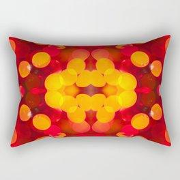 Red yellow sparkles and circles bokeh abstract Rectangular Pillow