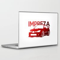 subaru Laptop & iPad Skins featuring Subaru Impreza 2006 - classic red - by Vehicle
