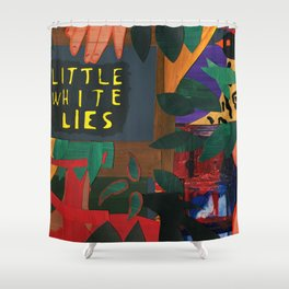 Little White Lies Shower Curtain