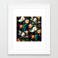 vintage floral Framed Art Prints featuring Vintage Floral by Burcu Korkmazyurek