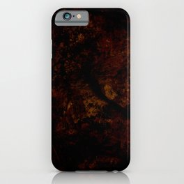 Dark brown red iPhone Case