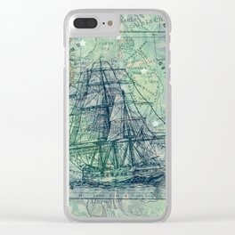 Vintage Clipper Ship Clear iPhone Case