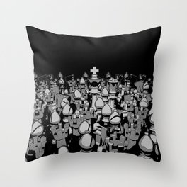The Chess Crowd Throw Pillow