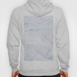 Bright and Minimalist Ice Textures from an Icelandic glacier Hoody