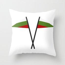 Bulgarian flag Throw Pillow
