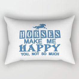 Horses Make Me Happy Rectangular Pillow
