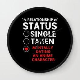 Anime Relationship Status Mentally Dating Otaku Wall Clock