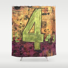 Journey by Number: 4 Repeated Shower Curtain