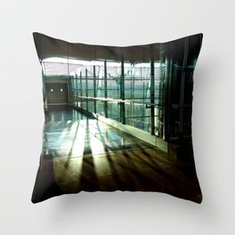 Boarding shadows Throw Pillow