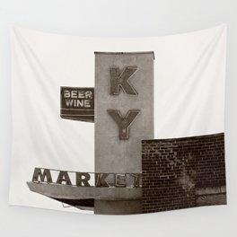 Vintage Neon Sign - KY Market - Tucson Arizona Wall Tapestry