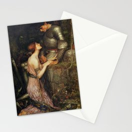 Lamia and the Soldier - Princess and Knight by John William Waterhouse Stationery Cards