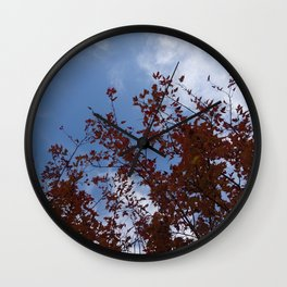 Some of the Leaves, More of the Sky Wall Clock