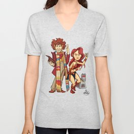 The Doctor, The Warrior, and K-9 Unisex V-Neck