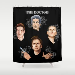 9th 10th 11th and 12th Doctor Shower Curtain