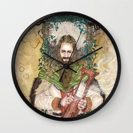 Bragi the bard of the Gods Wall Clock