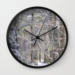 snowy road  Wall Clock