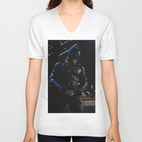 superhero V-neck T-shirts featuring Superhero by VAWART