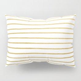 Gold Paris Stripe Pattern Pillow Sham