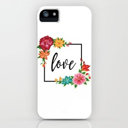 Floral Love II. iPhone Case