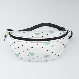 Pin Point Hearts Mint Fanny Pack