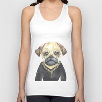 gangster Tank Tops featuring Dog Gangster by Lucie Sperry