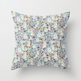 Bunny Rabbits Throw Pillow