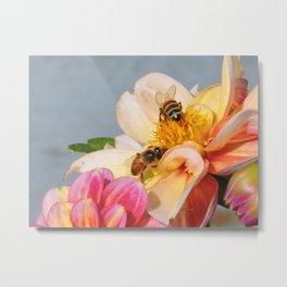 Honeybees at Work Metal Print