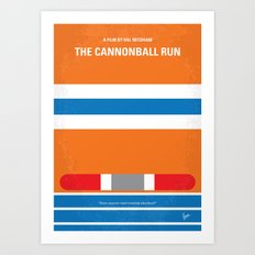 No411 My The Cannonball Run minimal movie poster Art Print