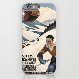 Werbeposter St Gervais Les Bains iPhone Case