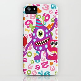 Birthday Monsters 5th Birthday iPhone Case