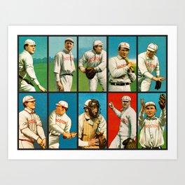 Vintage Boston Baseball Cards Art Print