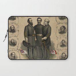 Four versions of the Flags of the Confederacy Laptop Sleeve