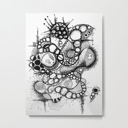 Desenredando el inconsciente migratorio Metal Print
