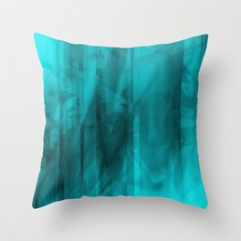 Blue Ice I Throw Pillow