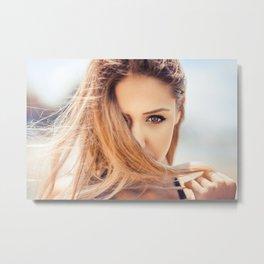 Closeup of a beautiful girl Metal Print