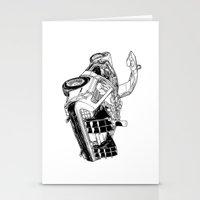 delorean Stationery Cards featuring delorean by marzini