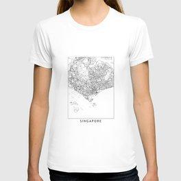 Singapore White Map T-shirt