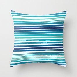 Painterly Stripes Throw Pillow