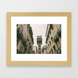 Santa Justa Elevator Framed Art Print