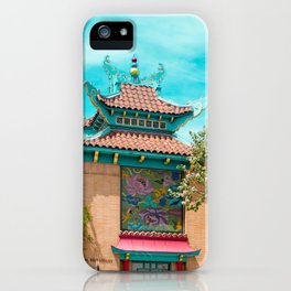Travel photography Chinatown Los Angeles I iPhone Case