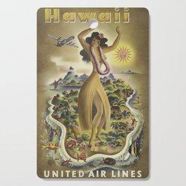 Vintage poster - Hawaii Cutting Board