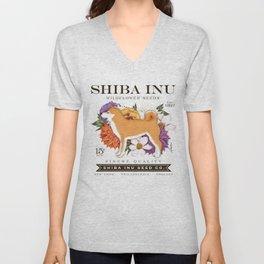Shiba Inu Seed Company wildflower seed artwork by Stephen Fowler Unisex V-Neck