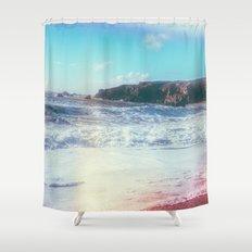 California Sunshine Waves Shower Curtain