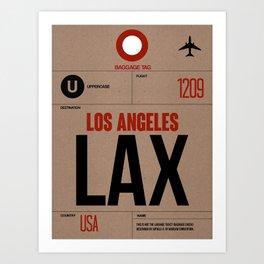 LAX Los Angeles Luggage Tag 1 Art Print