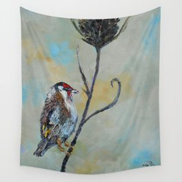 Goldfinch on Thistle Wall Tapestry