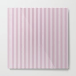 Simple grey pink stripes . Metal Print