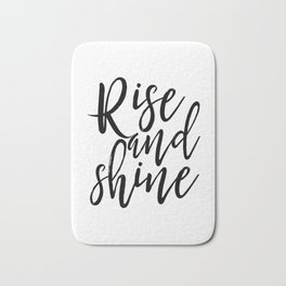 Morning Print Printable Art Rise And Shine Bedroom Decor Home Sign Quote Prints Inspirational Quote Bath Mat