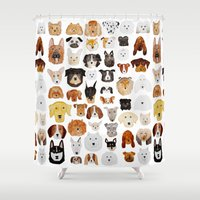 dogs Shower Curtains featuring Dogs by maureen