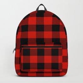 Buffalo Plaid Classic Red & Black Backpack